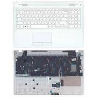 Клавиатура для ноутбука Samsung (370R4E) White, с топ панелью (White), RU 370R4E