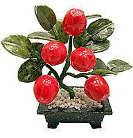 Яблочное дерево, 5 плодов, 20см,деревья счастья, декоративные деревья,искусственные бонсаи,товары для дома