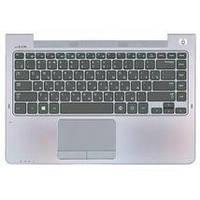 Клавиатура для ноутбука Samsung (535U4C) Black, с топ панелью (Gray), RU 535U4C