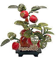 Яблочное дерево, 8 плодов, 25см,деревья счастья, декоративные деревья,искусственные бонсаи,товары для дома