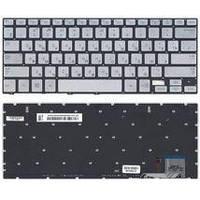 Клавиатура для ноутбука Samsung (740U3E, NP740U3E) с подсветкой (Light), Silver, (No Frame), RU 740U3E