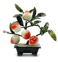 Персиковое дерево фен шуй, 5 плодов, 23см,деревья счастья, декоративные деревья,искусственные бонсаи,товары дл