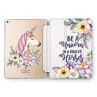 Чехол книжка, обложка для Apple iPad (Цветной единорог) Air 1 / 9.7 (2017 2018) A1474/A1475/A1476/A1822/A1823/A1893/A1954 айпад case smart cover