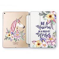 Чехол книжка, обложка для Apple iPad (Цветной единорог) Air 2 / 9.7 A1566/A1567 айпад case smart cover