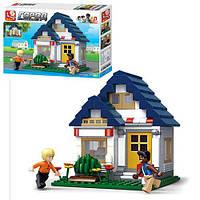 Конструктор SLUBAN M38-B0569 (32шт) дом, фигурки, 204дет, в кор-ке, 33-23,5-5,5см