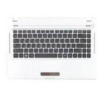 Клавиатура для ноутбука Samsung (Q330) Black, с топ панелью (White), RU Q330