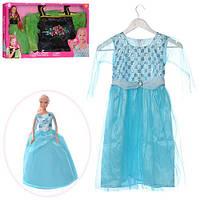 Кукла DEFA 8333 (12шт) 29см, платье 83,5см  для девочки (рост120см), 2 вида, вкор-ке,55,5-32-5,5см