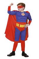 Костюм Супергерой с мускулами для мальчика на утренник маскарадный костюм СУПЕРМЕН