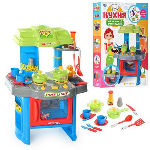 Кухня 008-26 A  плита,духовка,мойка, 63-41,5-27см,посуда,зв,св,на бат-ке,в кор-ке,60-43,5-9см