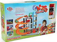 """Игровой набор Joy Toy """"Многоэтажная парковка  0849"""" -  4 этажа, лифт, спиральный съезд, автомойка"""