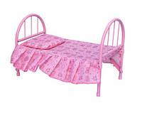 Кроватка для кукол железная / roy - 9342