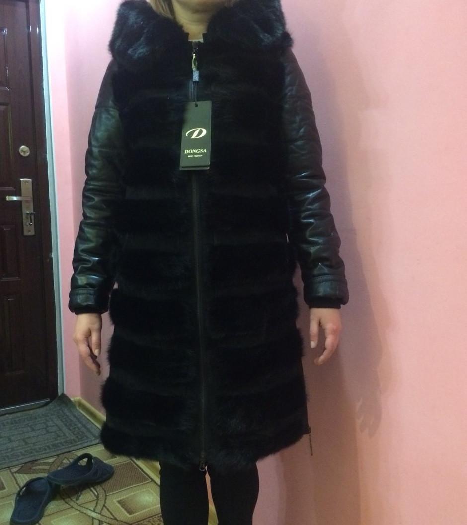 Шкіряна куртка з норкою 7ff8eef1222b0
