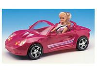 Машина кабриолет для куклы 22010 на батарейках 40 см, для куклы 29 см, инерционная