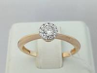 Золотое кольцо с фианитами. Артикул 140653 18, фото 1