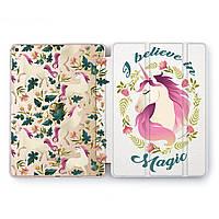 Чехол книжка, обложка для Apple iPad (Портрет единорога) Air 2 / 9.7 A1566/A1567 айпад case smart cover