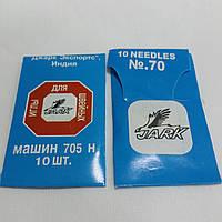 Иглы для швейных машин Jark №70, 10 шт в упаковке