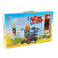 """Игровой набор  Joy Toy """"Мега парковка"""" 0847, 4 этажа, спиральный съезд, лифт, вертолетная площадка"""