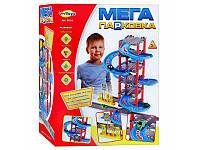"""Детский игровой Гараж """"Мега Парковка"""" 922-4, 6 этажей, машинки 2 шт, спиральный спуск, АЗС"""