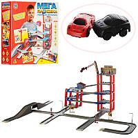 """Игровой паркинг-гараж 922-6 Joy Toy """"Мега парковка"""" 5 этажей, мост, кран, машинки 2 шт"""