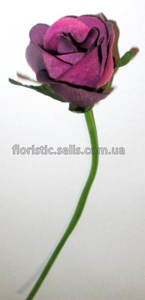 Сиреневая искусственная роза 26 см