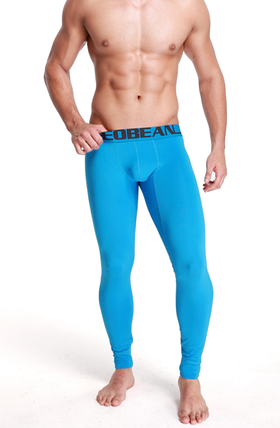 Стильные голубые мужские термо-подштанники Seobean, фото 2