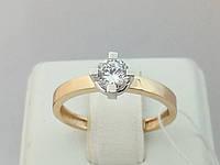 Золотое кольцо с фианитом. Артикул 146600, фото 1