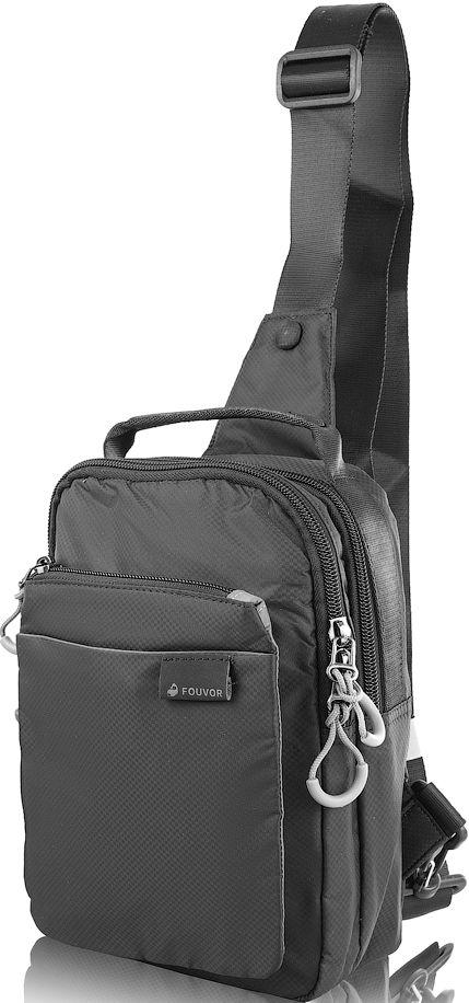 cadce4868875 Тканевая мужская сумка-рюкзак FOUVOR VT-2802-24, 8л черная, цена 746 ...