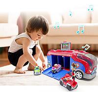 Детский автовоз гараж Щенячий Патруль GG019,с героями, звук,свет