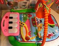 Многофункциональный детский коврик-пианино HX9124-25-26A с дугой, музыкальный, 84-50 см