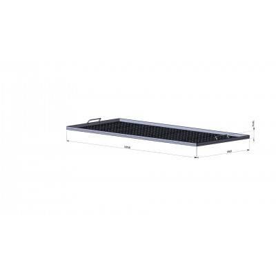 Корзина для забруса (FB плоская корзина) — 1,5 метр, нержавеющая сталь