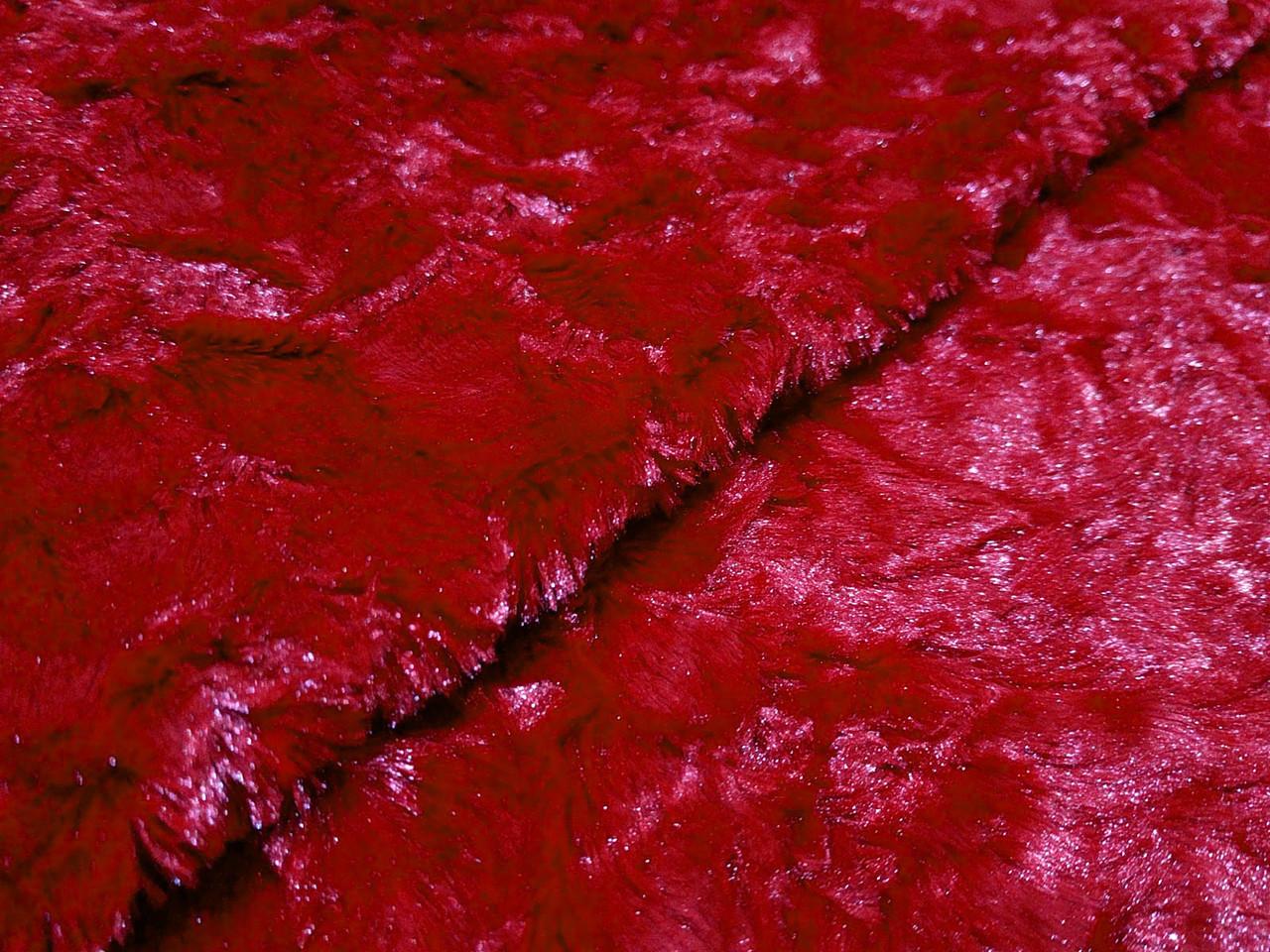 Мех манто, красный