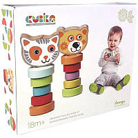 Набор деревянных игрушек Гибкие животные Cubika 13661, фото 1