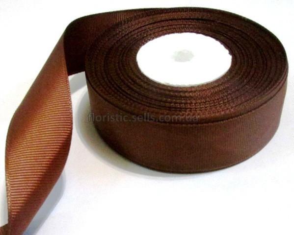 Лента репсовая 4 см, шоколадная