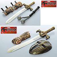 Набор ниндзя 63586-7  меч52см, рукавица,2вида(маска/нунчаки), в кульке, 18-62-4см