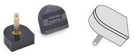Набойки полиуретановые двухслойные BISSELL, р.9 (9*9 мм), штырь 2.9 мм, цв. черный