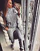Женский ультрамодный вязаный очень теплый костюм, фото 5
