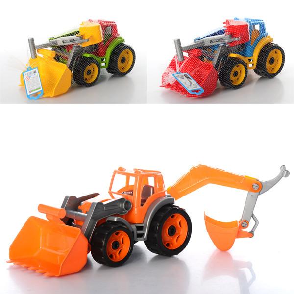 Іграшка Трактор з двома ковшами ТехноК, арт. 3671