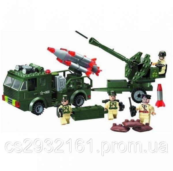 Конструктор Brick 242 детали, конструктор Военный с ракетой, конструктор  812