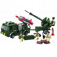 Конструктор Brick 242 детали, конструктор Военный с ракетой, конструктор  812, фото 1