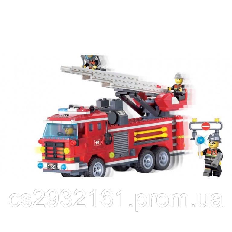 Конструктор Brick 364 детали, конструктор Пожарная машина, конструктор  904