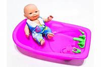 Пупс в ванночке, Пупс с уточкой, игрушка для купания, маленький пупсик, Пупсик  S8008-27/28AB
