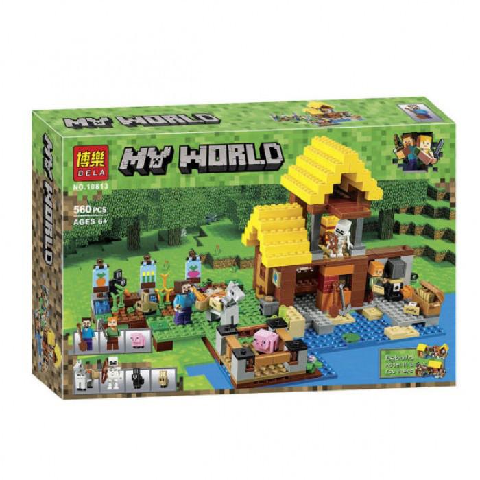Конструктор Майнкрафт Bela 10813 Фермерский коттедж (аналог Lego Minecraft 21144) 560 дет
