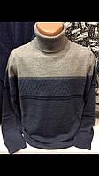 Турецкие тёплые мужские свитера с отворотом гольфы