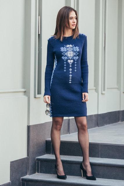 Женские платья машинная вязка