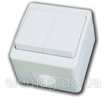 Выключатель 2-х клавишный Gunsan NEMLIYER белый