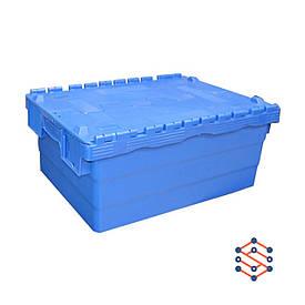 Пластиковый контейнер с крышкой - SPKM250,   400x600x250 мм