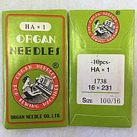 Голки для швейних машин Organ №100, 10 шт в упаковці