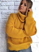 Женкий вязаный свитер оверсайз (5072-3198br), фото 2