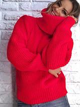 Женкий вязаный свитер оверсайз (5072-3198br), фото 3