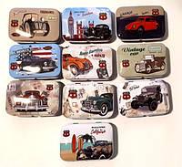 Коробка подарочная жестяная 7,5*5*2,3 см Ретро авто